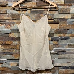 Banana Republic Sheer Ivory Cami V-Neck Top
